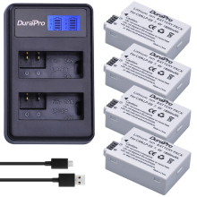 4pcs DuraPro LP E8 Digital Batteries Li ion LP E8 LPE8 Camera Battery LCD Dual USB