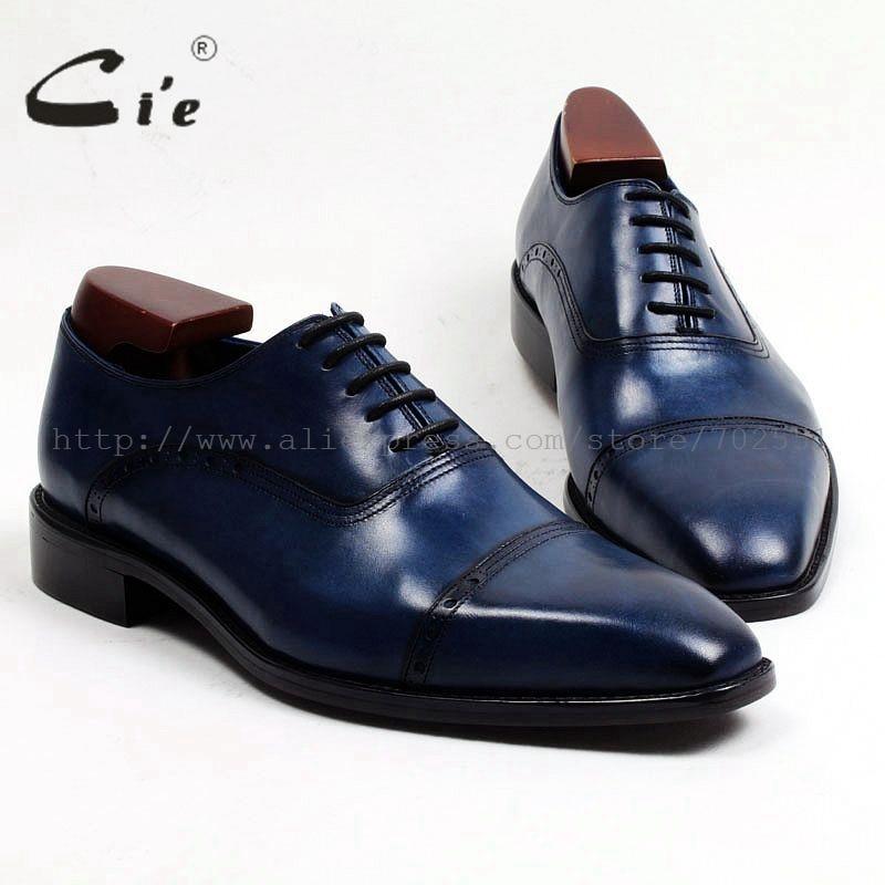 cie Square Toe Bespoke Custom Handmade Adhesive Craft Handmade Genuine Calf Leather Men's Dress Flats Oxford Coffee Shoe OX458 стоимость