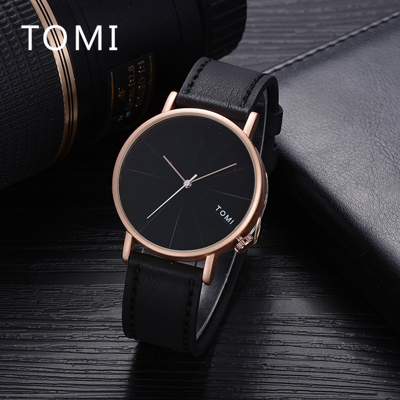 Tomi Men Watches Top Brand Fashion Casual Luxury Leather Strap Sport Military Wristwatch Luxury Business Quartz Clock T010 vinoce top luxury brand men military sport watches men s quartz clock male leather waterproof casual business wristwatch relogio