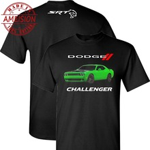 New Summer Hot Sale mens fashion 2019 style Dodge Challenger Hellcat on a Black T Shirt Tee shirt все цены