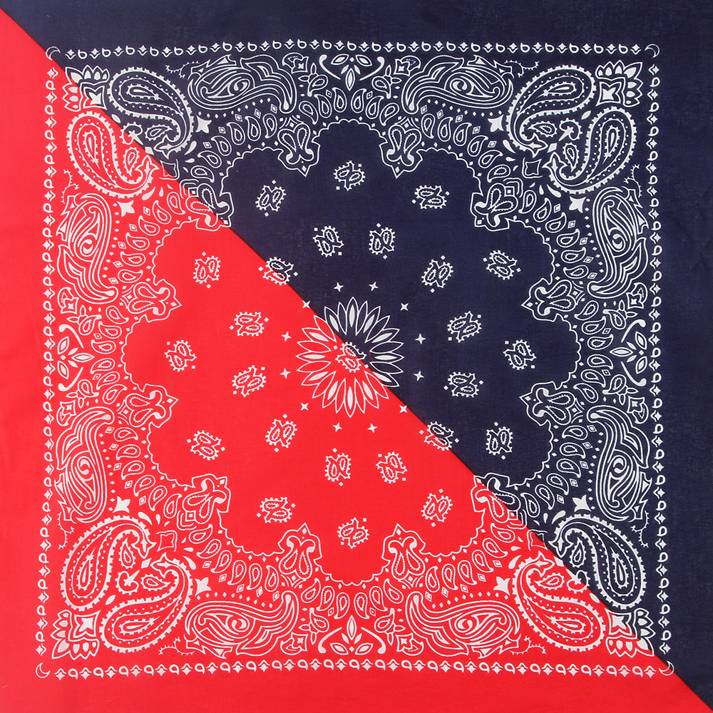 WINFOX New Cotton Navy Red Paisley Bandana Headwear For Mens Womens