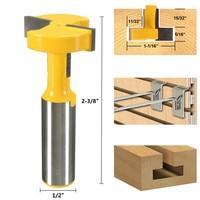 2 Pcs Lot Straight T Slot Router Bit 1 2 Inch Shank Carbide Wood Milling Cutter
