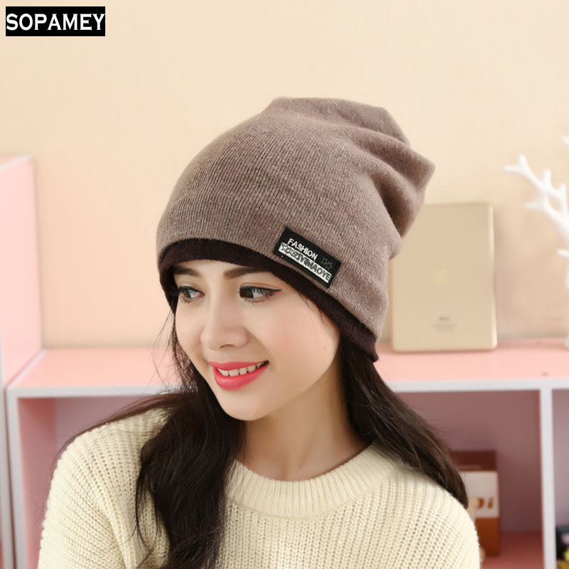 2017 New Fashion Men Women Warm Snow Winter Casual Beanies Solid Favourite Knit Hat Cap Hip Hop Casual Male Bonnet
