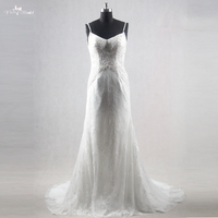 RSW1131 Sexy Backless Spaghetti Strap Beach Wedding Dress For Pregnant Woman