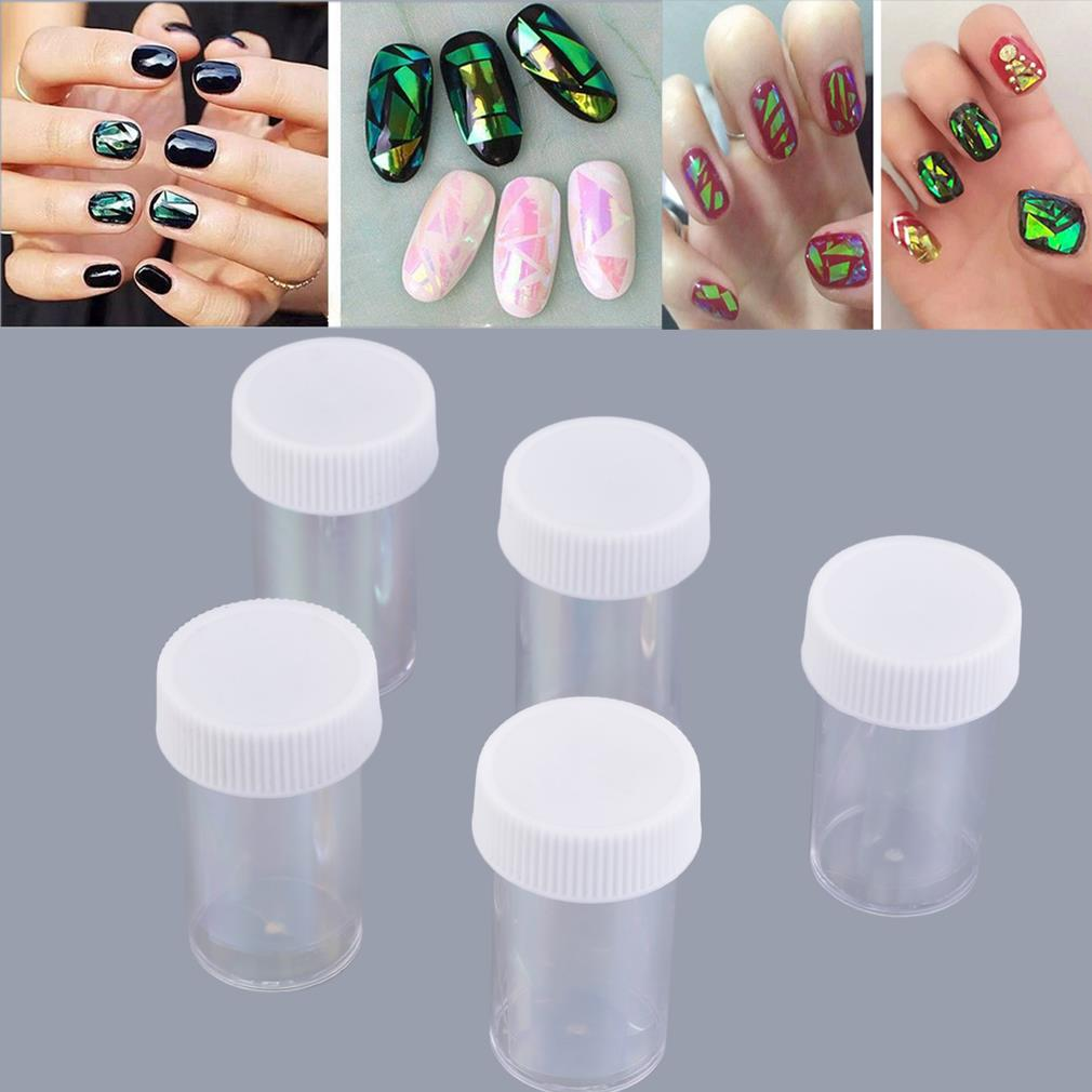 ▻5 x Foil Nail Art Transer Stickers Decal Wrap Glitter Decoration ...