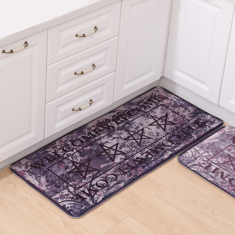 New Retro Rugs Kitchen Washable Welcome Floor Mat Doormat