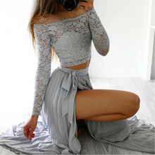 Bbonlinedress Lace Top Prom Dress 2019 New Arrival A Line Gowns Slit Skirt Evening Dresses Formal Party