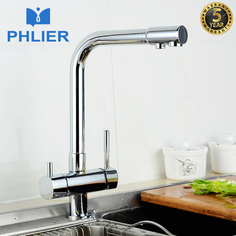 Kitchen Faucet Purified Water Purification Faucets Deck: PHLIER Water Filter Kitchen Faucets Deck Mount Mixer Tap