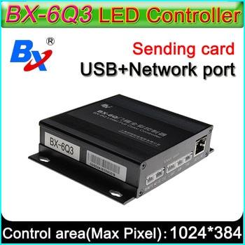 onbon BX-6Q3 lintel full color controller asynchronous,Ethernet and USB port sending program, Lead free LED display control card