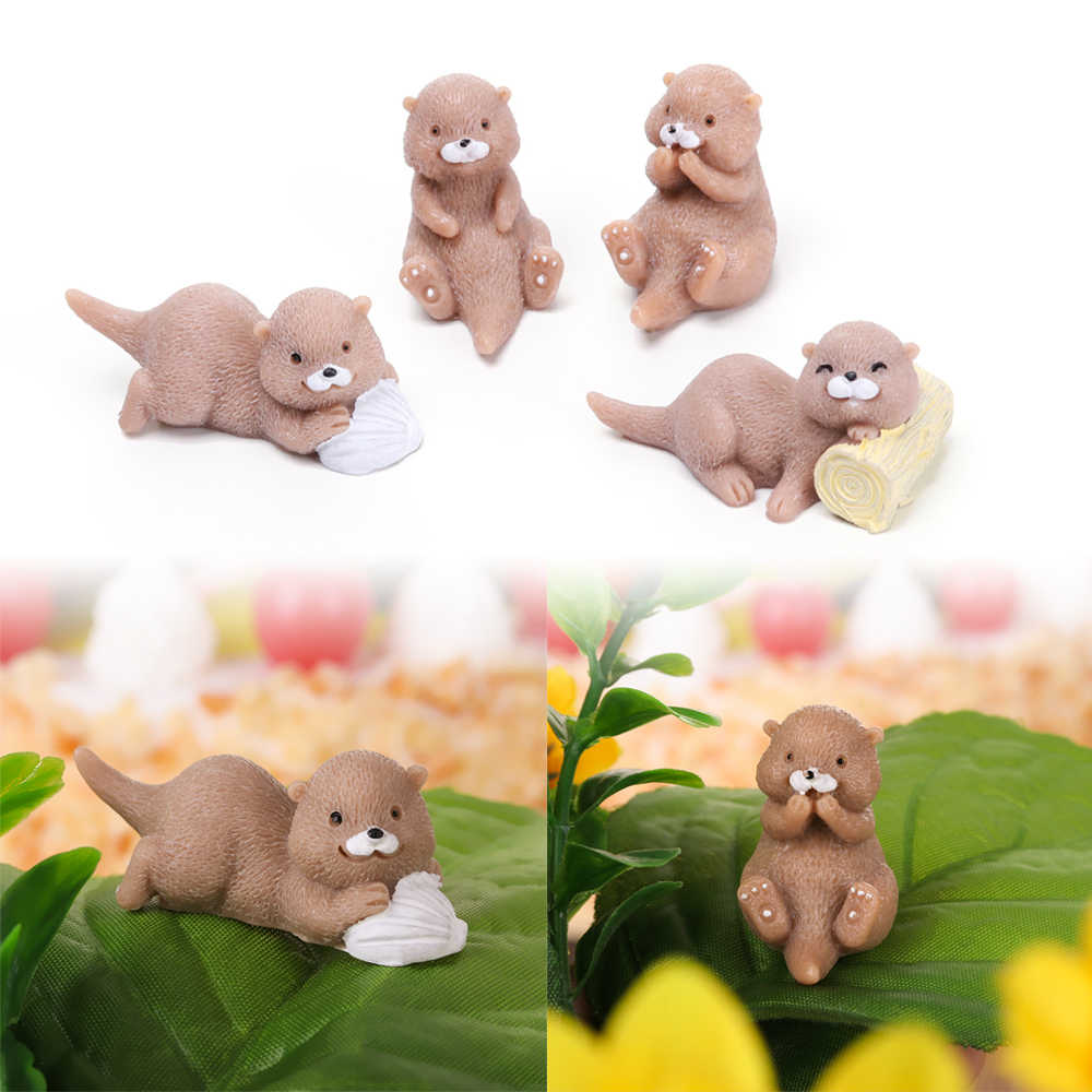 DIY Fairy Garden Dollhouse Bonsai Ornament Home Decor Otters  Multi Style Figurine Animal Model Miniature Water Dog Fashion