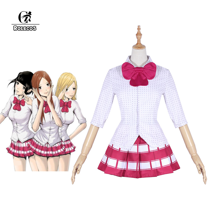 ROLECOS Back Street Girls Cosplay Costume Airi Mari Chika Cosplay Costume Women Girl Uniform Full Set for Party Halloween