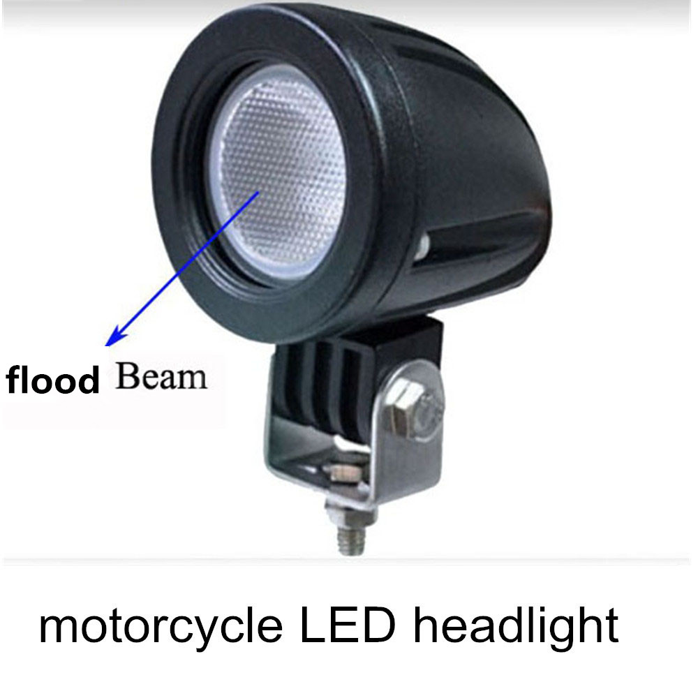 ФОТО motorcycle headlight lamp 12V  IP67 for 4x4 car accessories truck Offroad  10w  motorcycle LED headlight