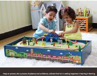 Modèles réduits Véhicules Jouets enfants toys Thomas train Jouet Modèle Cars Bâtiment de puzzle en bois piste slot Rail transit 60 pièces En Stock