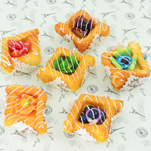 050 6pcs Imitation fruit paper cups bread new fancy fridge cake model home decoration