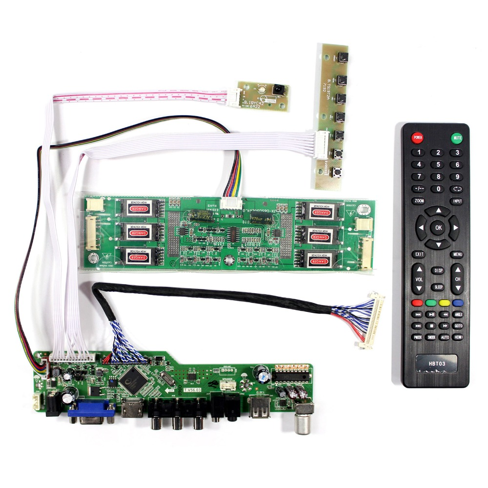 TV+HDMI+VGA+AV+USB LCD Driver Board For 1600x1200 M201UN02 LTM201U1-L01 LCD Screen 42pa50c tv sc board driver board y board tnpa3543 txnsc1yfsc