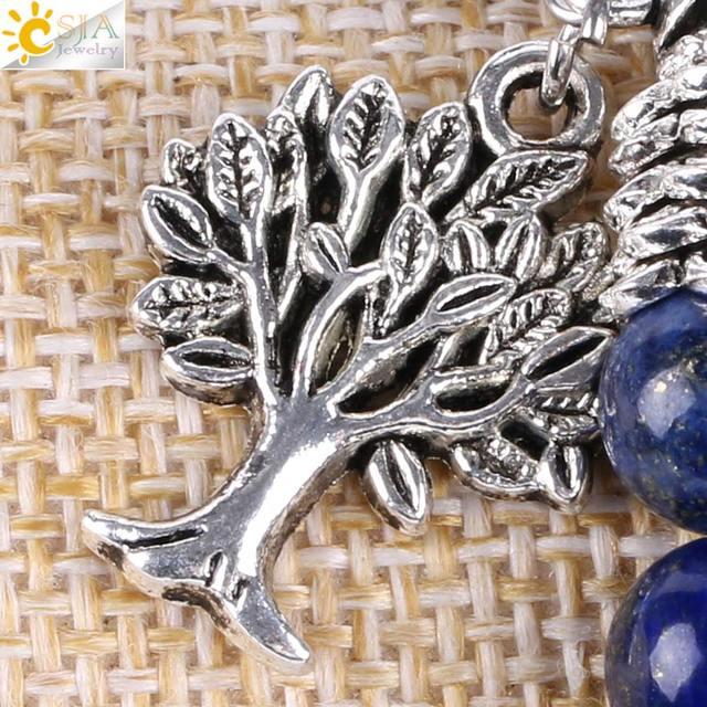 Браслет чакры из натурального камня csja браслеты лазурита дерева