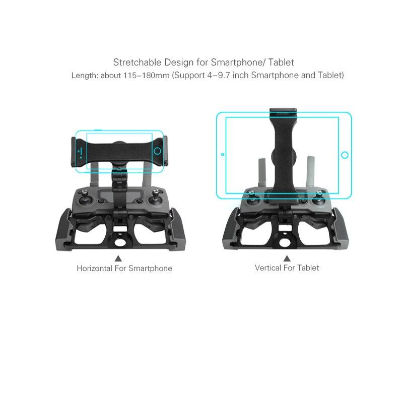 5.5 7.9 9.7 pouce téléphone support de tablette en alliage d'aluminium support pince pour dji mavic 2 pro zoom étincelle mavic pro 1 air mavic min drone - 5