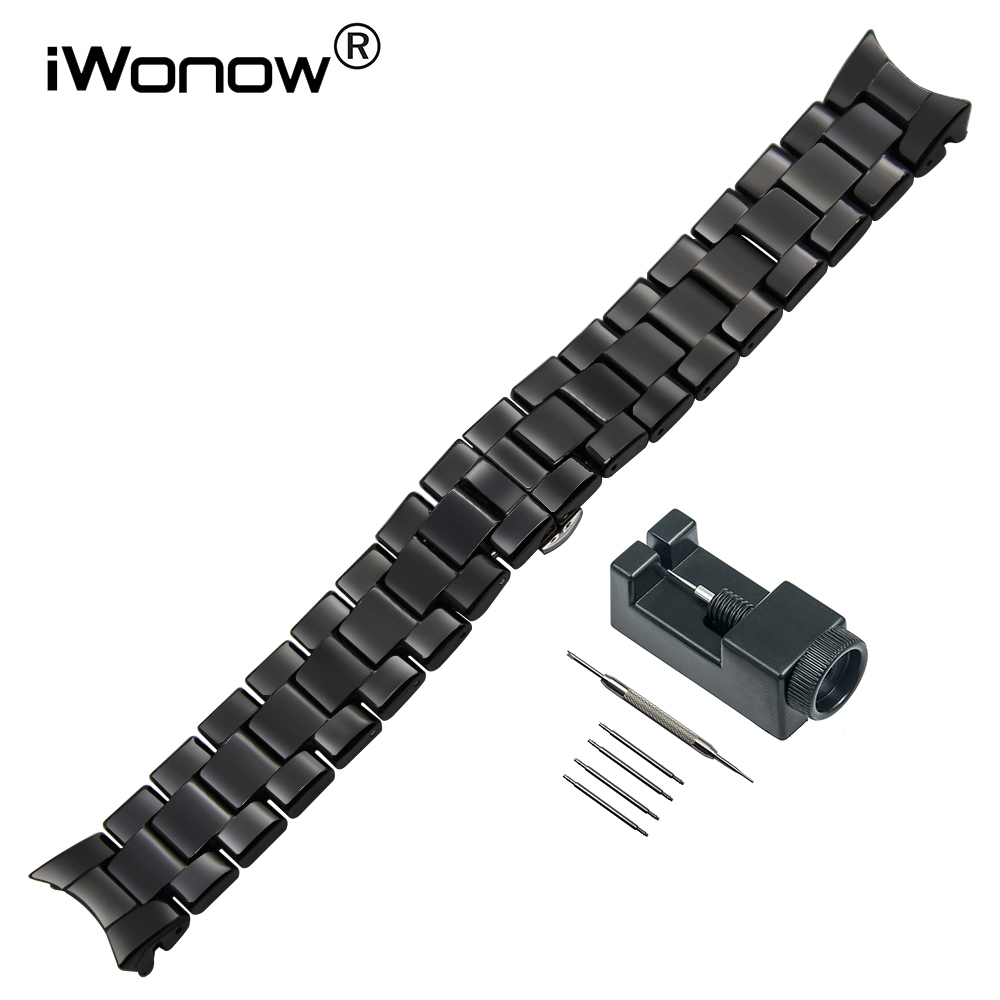 18mm 22mm Curved End Ceramic Watchband + Link Remover for AR1405 AR1442 AR1426 AR1451 AR1451 AR1468 Watch Band Wrist Strap Black curved end ceramic watchband 18mm 22mm for ar1452 ar1405 ar1442 ar1426 ar1468 men women watch band wrist strap bracelet white