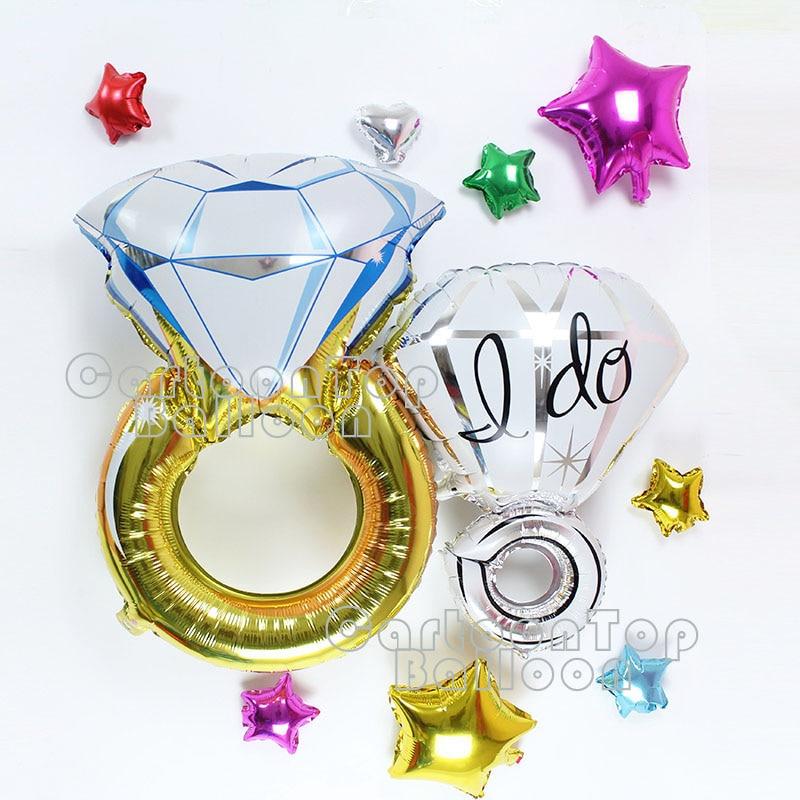 1 шт. кольцо с бриллиантом воздушный шар из фольги Мода Любовь Globo для  свадьбы украшения специальный подарок на день Святого Валентина baloes . daf9d300fb7