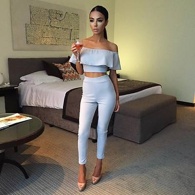 9be8cc9447b New Women Casual Short Sleeve Bodycon Romper Jumpsuit Club Bodysuit Long  Pants-in Jumpsuits from Women s Clothing   Accessories on Aliexpress.com