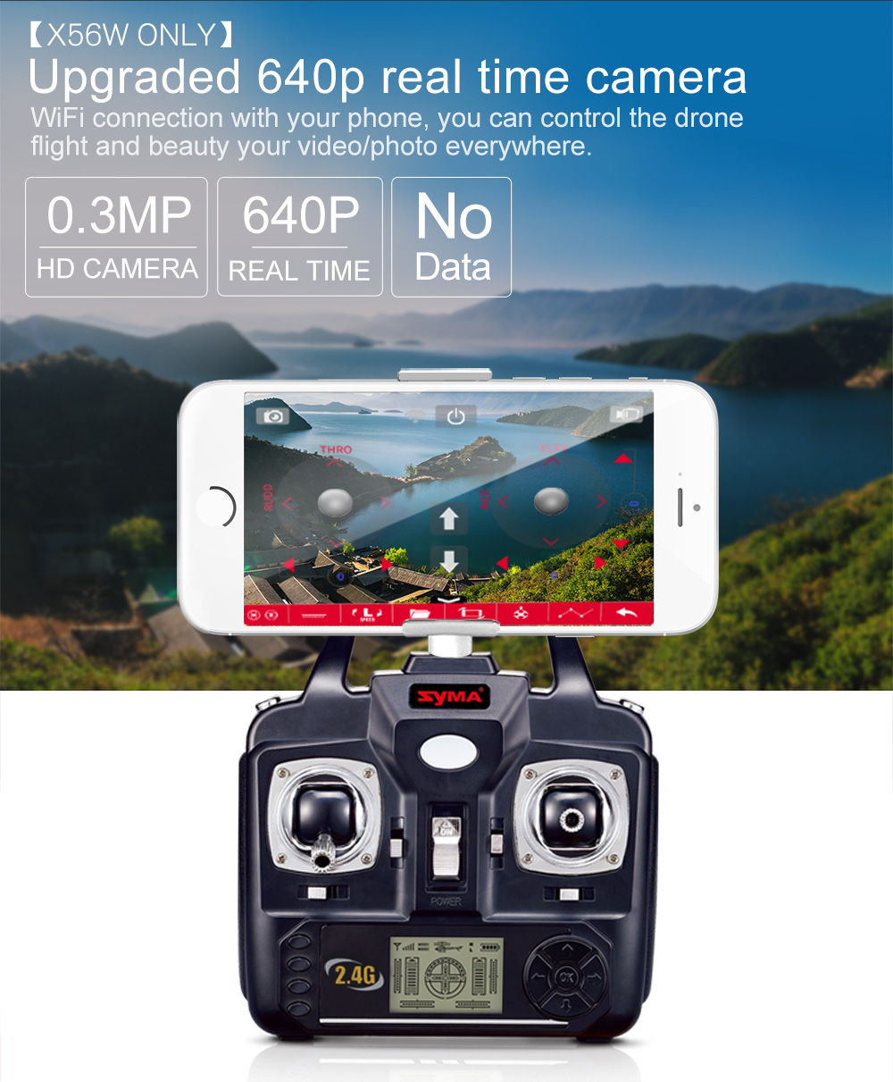 SYMA Official X56W RC Drone Folding Quadrocopter With Wifi Camera Real-time Sharing Flashing Light RC Helicopter Drones Aircraft 15