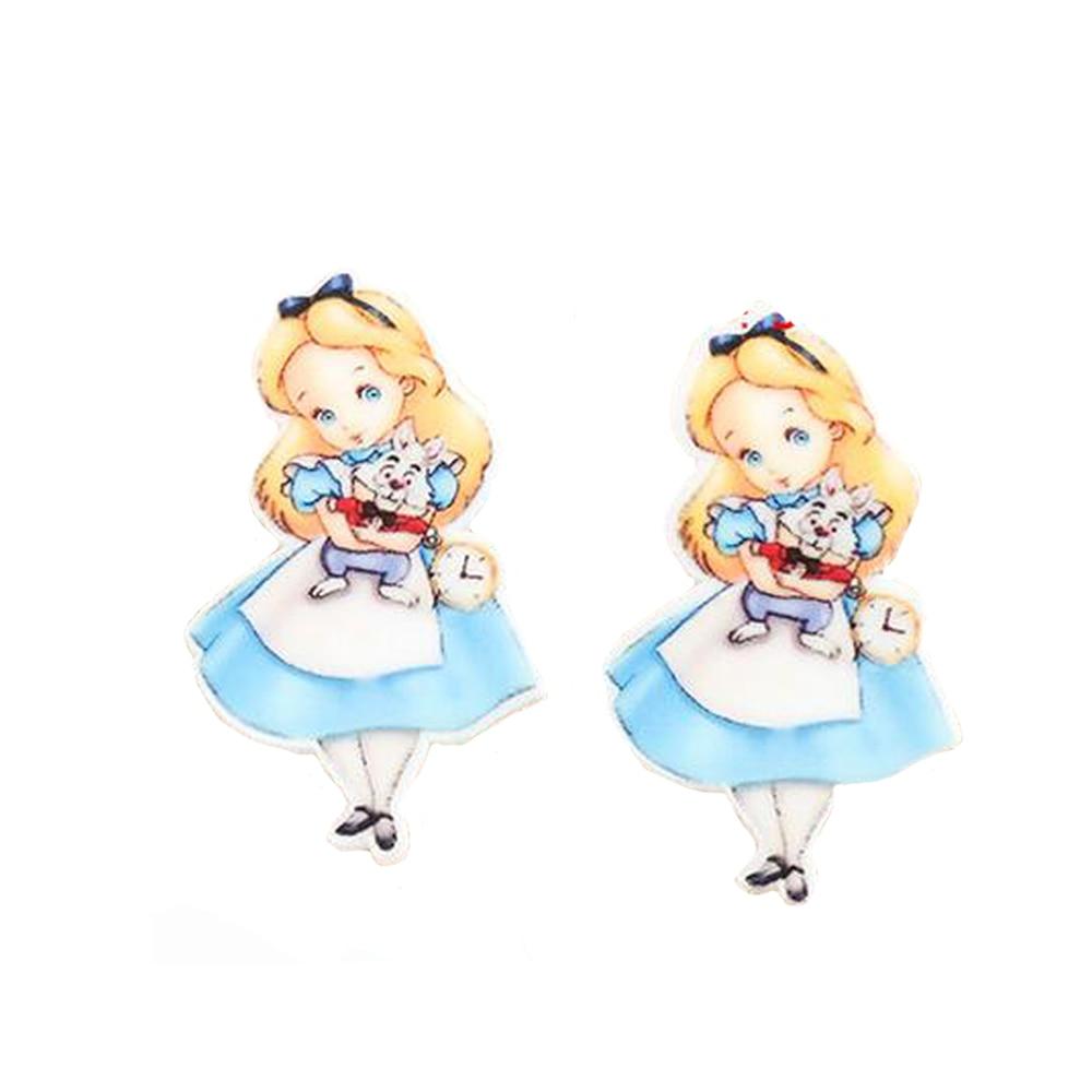 20Pcs Cute Alice Princess Flatback Cabochons Resin Planar Craft DIY Little Girls Kids Jewelry