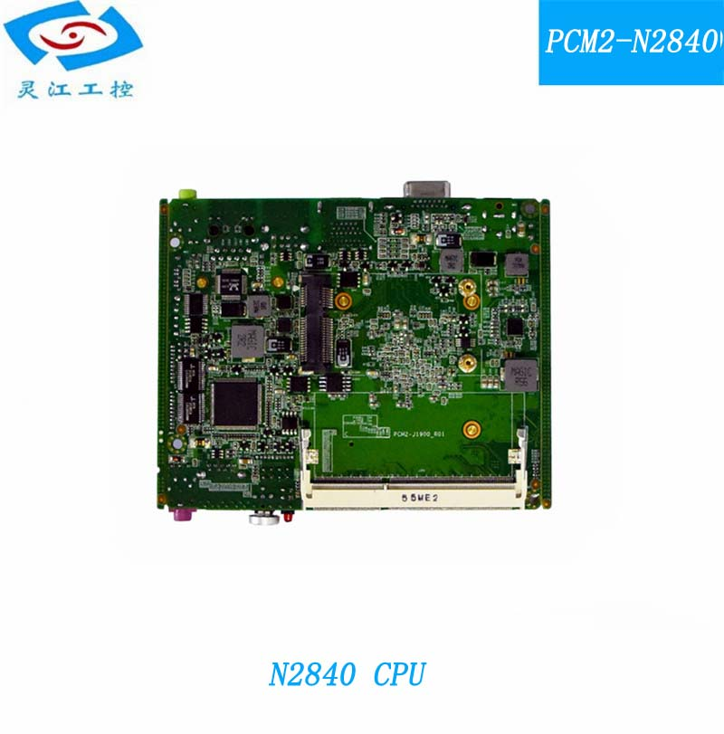 Fanless embedded Industrial motherboard N2840 CPU onboard with 2*MINI PCIE