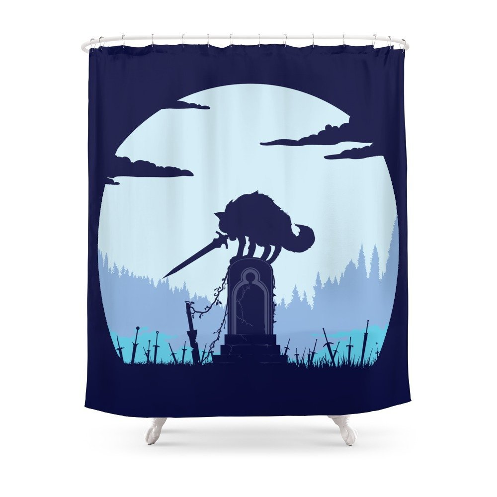 Grey Wolf Sif (Dark Souls) Shower Curtain-in Shower Curtains from Home &  Garden on Aliexpress com | Alibaba Group