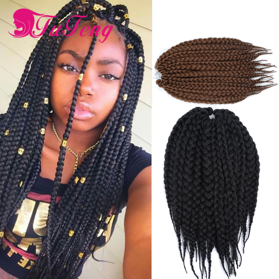 How To Do Crochet Box Braids Small : 14 inch crochet box braids burgundy expression braiding hair crochet ...