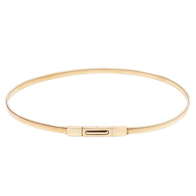 Printemps chargé élastique or chaîne taille ceinture femmes haute qualité  Décoratif fine or femelle ceintures robes 0e0d3d1ac7e