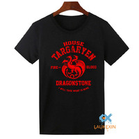 Games Of Thrones T Shirts A Song Of Ice And Fire Targaryen Top Tee Shirt Summer
