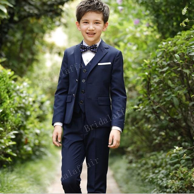 0ff6de21b Wonderful Boys Blazer Suits Kid Boy Prom Wedding Suits Navy Blue ...