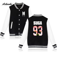 Aikooki BTS Kpop Baseball Jacket Winter Hoodies Men Bangtan Hip Hop Harajuku Hoodies Women Casual Fashion