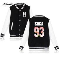 Aikooki BTS Kpop Baseball Jacket Winter Hoodies Men Bangtan Hip Hop Harajuku Hoodies Women Casual Fashion