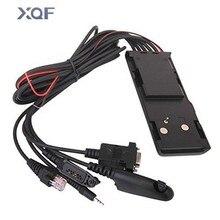 Câble de programmation universel 5 en 1 sans nervure HKN9857 pour talkie walkie Motorola GM300 GP328 GP340 GP3688 GP88 CP140 Radio bidirectionnelle