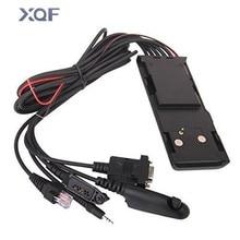 Cable de programación Universal sin nervaduras, 5 en 1, HKN9857 para Walkie Talkie Motorola GM300 GP328 GP340 GP3688 GP88 CP140, Radio bidireccional