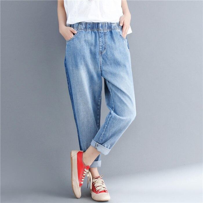 Printemps Jeans pour femmes lâche lavage meulage sarouel Pantalon Femme décontracté Pantalon Femme grand Arts Style Calca Feminina