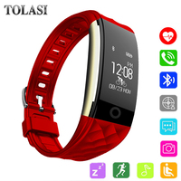 TOLASI Bluetooth Smart Watch With Heart Rate Monitor Pedometer Cycling Fitness Tracker Bracelet Reminder Smartwatch Women 2018