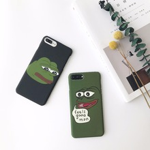 For Iphone 7 Case Couple Lovers Frog Feels Good Man Protective Hard Cover  For Iphone 6