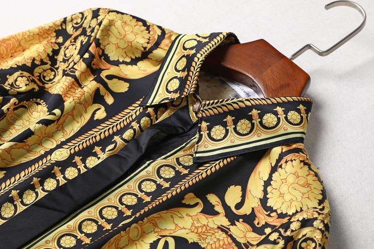 Imprimé Pour Vêtements Et Femmes T Européennes shirt 2017 Pantalon Plissée Nouvel Vintage Américaines Le Pièces Costumes Hiver Jupe Trois grwgx