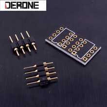 10 piece PCB for  Single op amp to dual op amp with pin