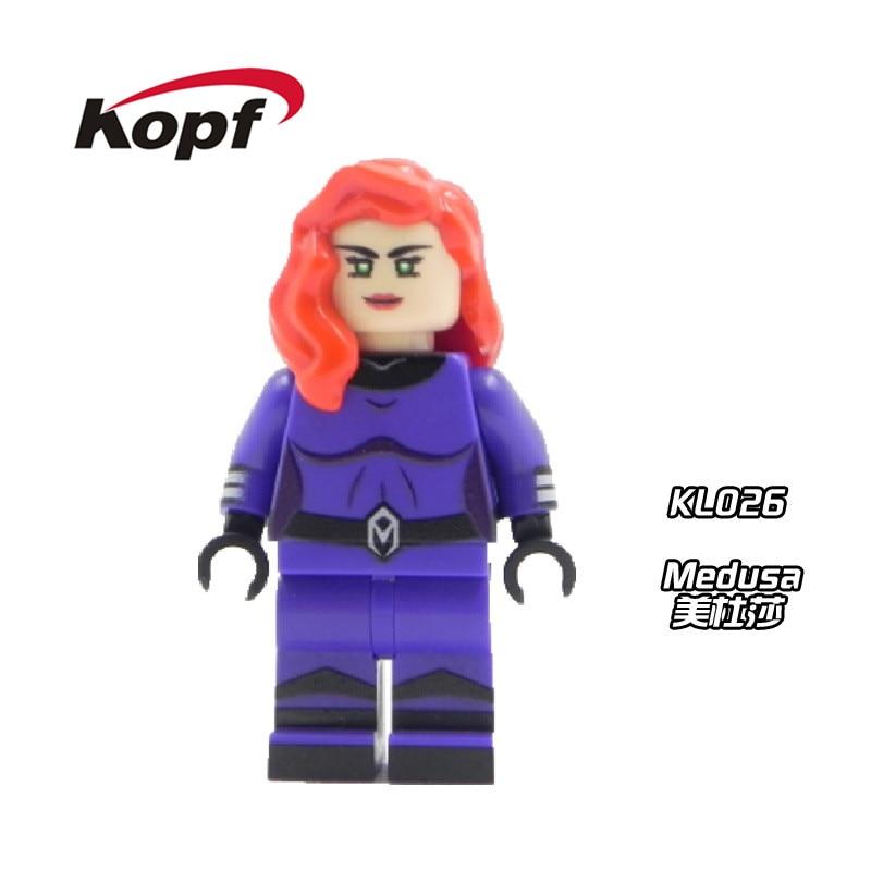 Super Heroes X-Men Custom Medusa Karnak Dolls Inhumans Royal Family Bricks Model Action Building Blocks Toys for children KL026