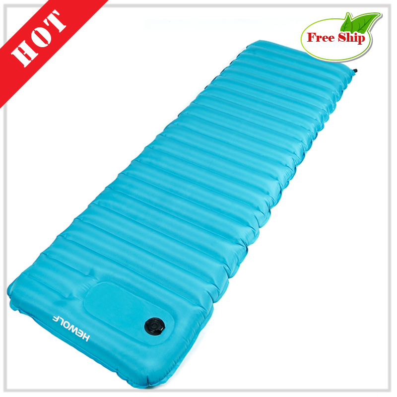 Free ship Beach inflatable mattress mat nature hike camping mats travel Tourism sand free mats air bed Picnic sleeping pad EC09