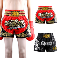 Men martial arts MMA Shorts Fighting trunks kickBoxing Grappling professional Muay Thai Short pants Black Boxing training pant