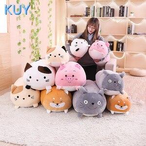 Image 5 - 60/90CM nowy Giant śliczne pluszowe zabawki wypchane zwierzę lalka piękny kot pies świnia Toroto Sofa poduszki poduszki dla dzieci uspokoić zabawki wystrój domu