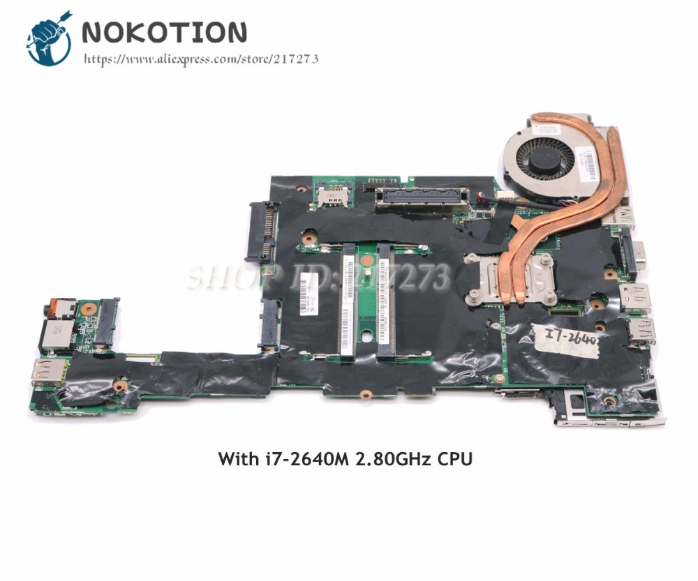 NOKOTION For Lenovo ThinkPad X220 Laptop Motherboard 04W3386 I7-2640M 2.80GHz CPU DDR3 HD3000 Main BoardNOKOTION For Lenovo ThinkPad X220 Laptop Motherboard 04W3386 I7-2640M 2.80GHz CPU DDR3 HD3000 Main Board