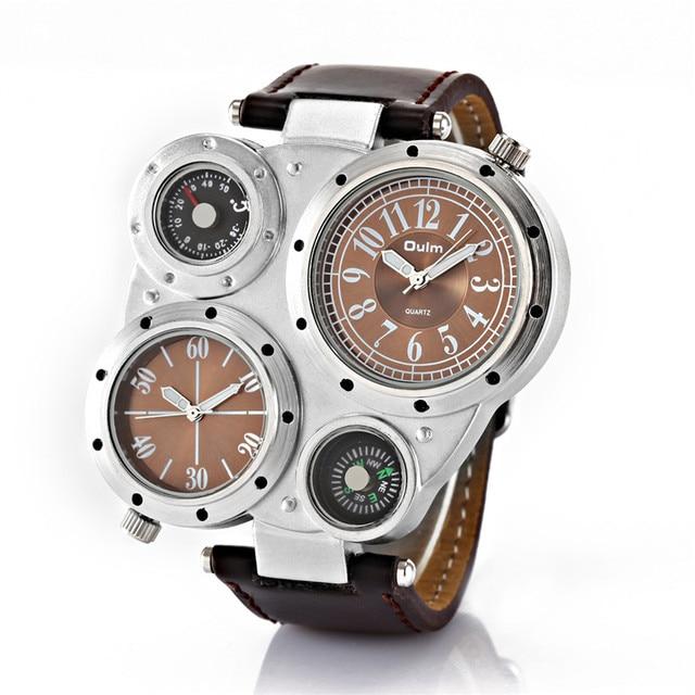 66516c2a382 Cara grande Marca de Luxo OULM Original Importado Design Mens Watch Reloj  Hombre Relogio masculino Montre