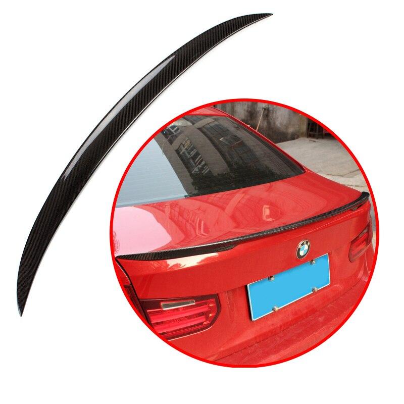 Pour BMW série 3 F30 F35 M3 320i 320li 325li 328i matériau ABS de haute qualité fibre de carbone motif décoratif aileron aile arrière