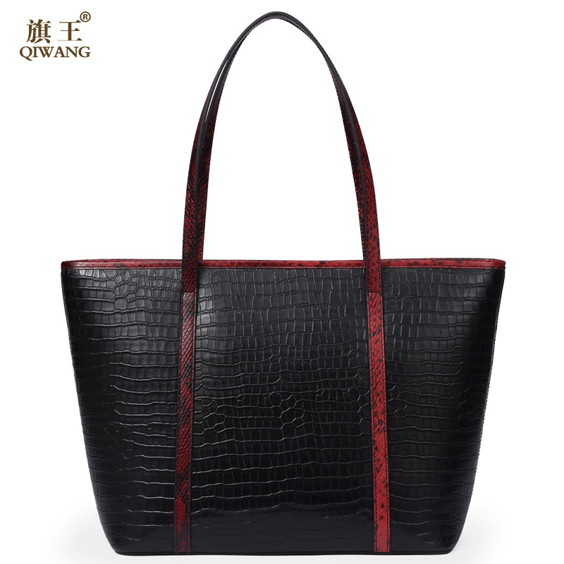 Famous Brand Women Tote Shopping Bags REAL Genuine Leather Woman Shoulder Bag Bucket Larger Capacity Sexy Handbag Women aodux 2018 new famous brand women tote shopping bags female genuine leather woman second layer cow leather shoulder shopping bag
