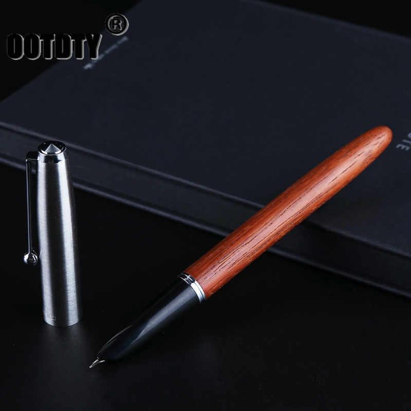 Винтажный Стиль Груша деревянный бочонок авторучка 0,38 мм перо Бизнес офис подарок дропшиппинг